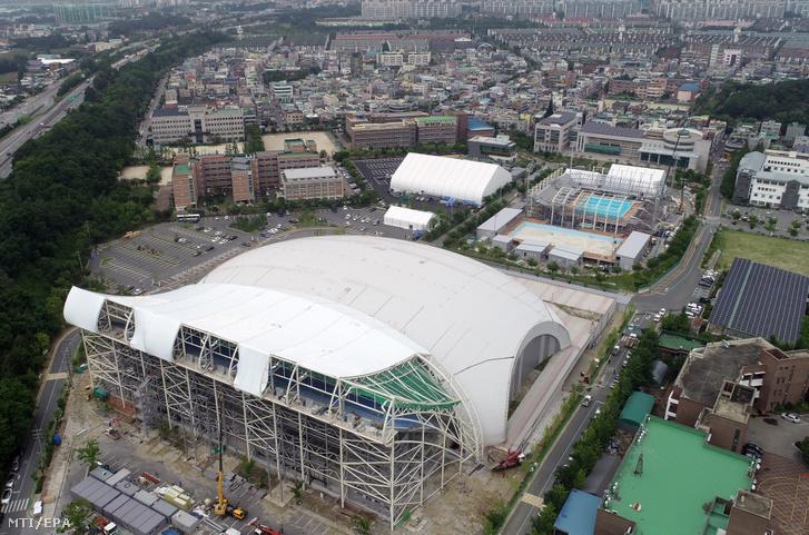 A 2019-es vizes világbajnokság központi komplexuma a versenynek otthont adó Kvangdzsuban 2019. június 11-én