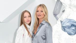 Kate Moss 17 éves modell lánya kiköpött mása édesanyjának