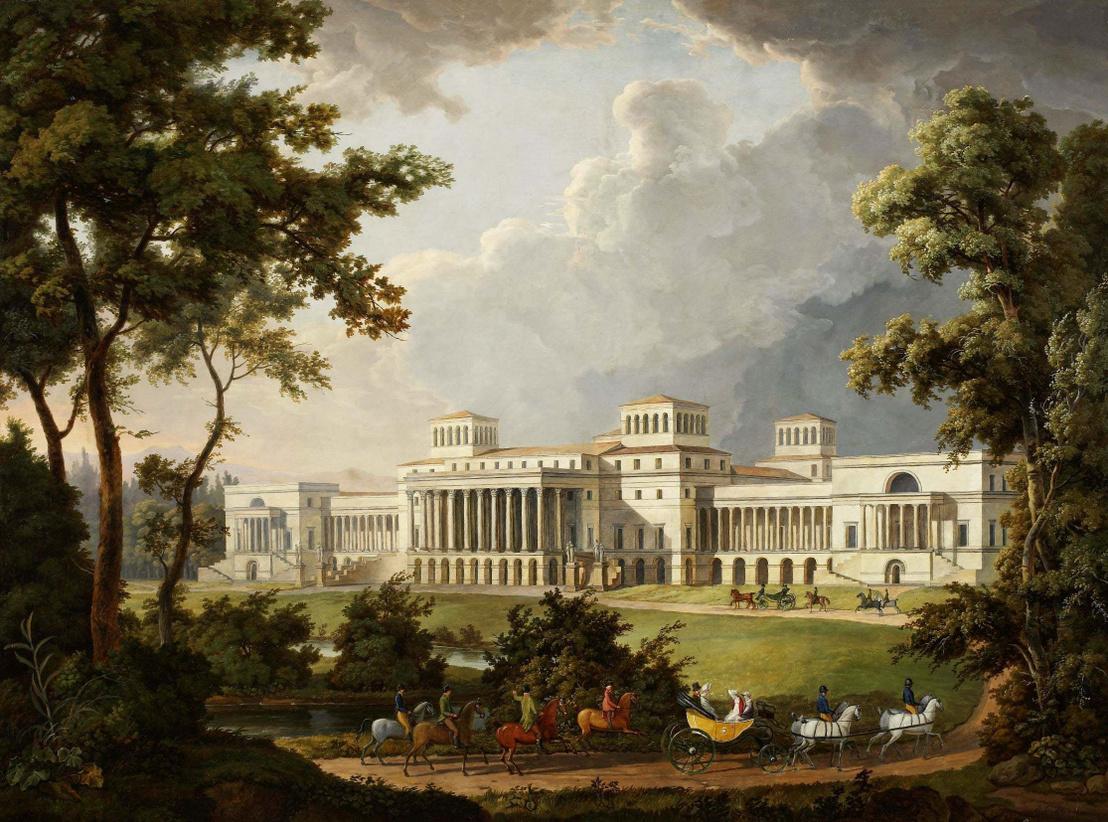A kismartoni Esterházy-kastély bővítésének terve. Albert Christoph Dies festménye, 1812.