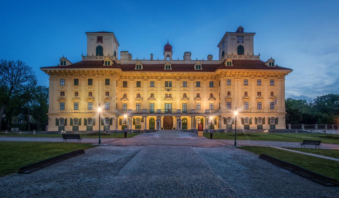 A kismartoni Esterházy-kastély barokk főhomlokzata