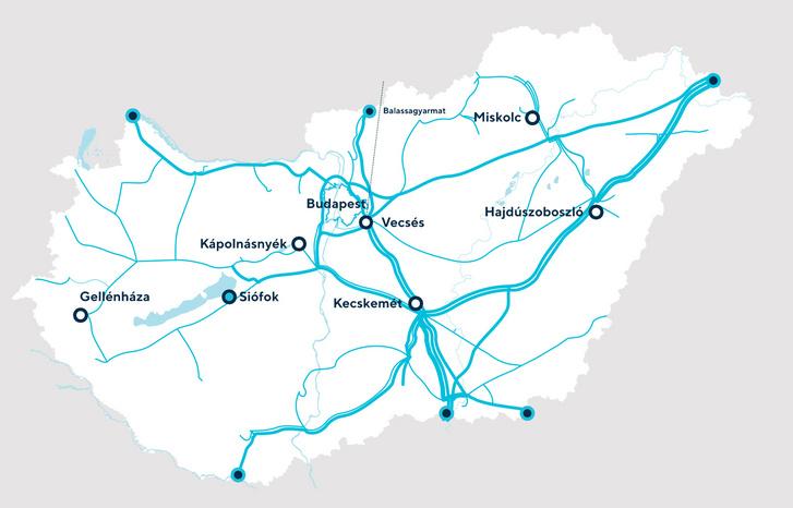 Magyar nagynyomású földgázvezetékek