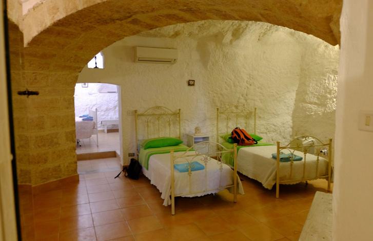 A gyerekek szobája a barlanglakásban