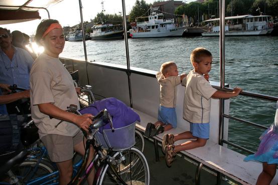 2007-ben, amikor először kompoztunk át Porto Garibaldiba