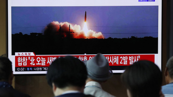 Észak-Korea újabb rakétákat lőtt a Japán-tenger felé