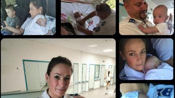 Rendőrök segítettek egy rosszul lett nőn és két gyerekén az M6-os autópályán
