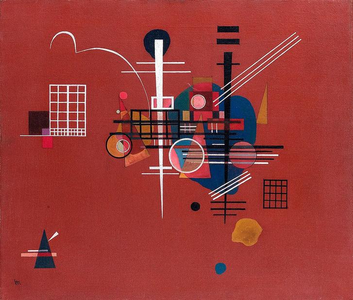 Vaszilij Kandinszkij Fakóvörös című festménye