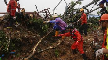 Sárlavina tarolt le egy mianmari falut, 30-nál több halott