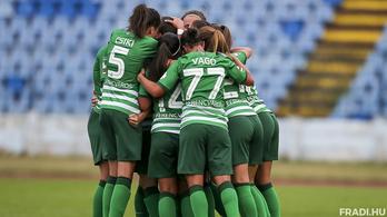 Egy győzelemre a Fradi női focicsapata a BL-főtáblától