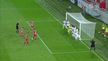 Hatméteres szabadból lőtt gólt a DVTK az Újpestnek