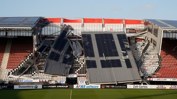 Rászakadt a tető a lelátóra a holland első osztályú csapatnál