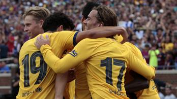 A Barcelona negyedóra alatt négy góllal intézte el a Napolit