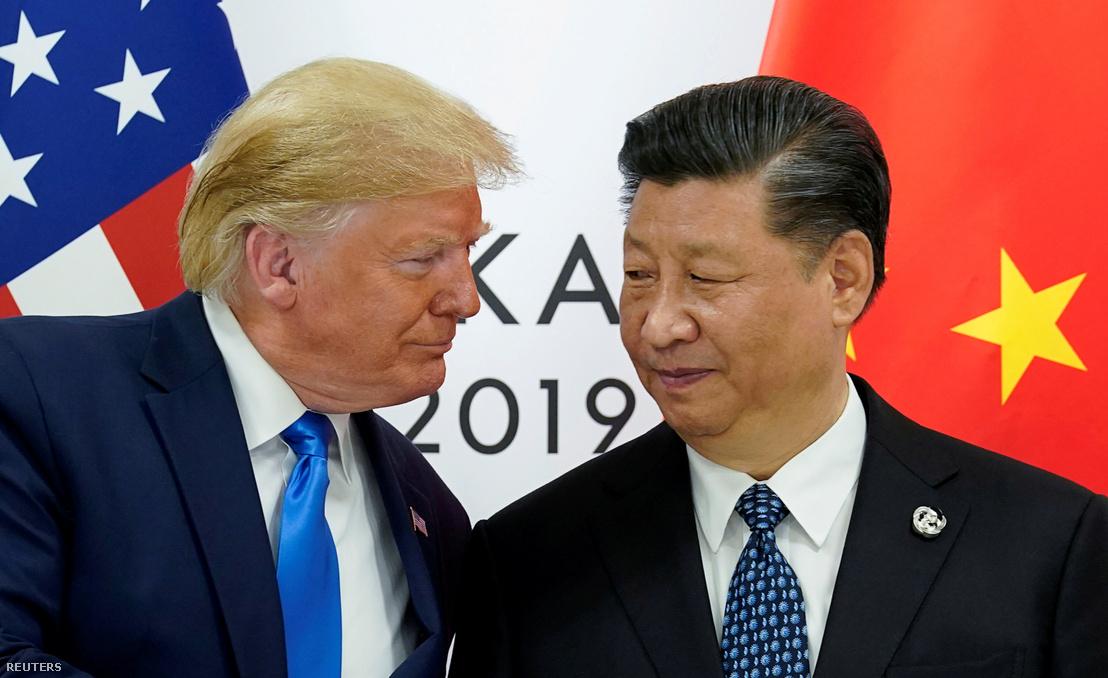 Donald Trump és Hszi Csin-ping a G20-ak június 29-i, oszakai csúcstalálkozóján