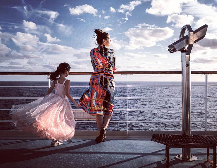 Nánási Mici hercegnőnek érezhette magát az óceánjáró hajó fedélzetén.