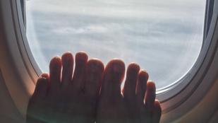 Ezért se vedd le a cipőd a repülőn