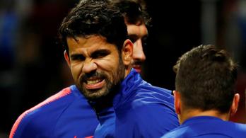 Diego Costa megsérült, új csatárt igazolna az Atlético Madrid