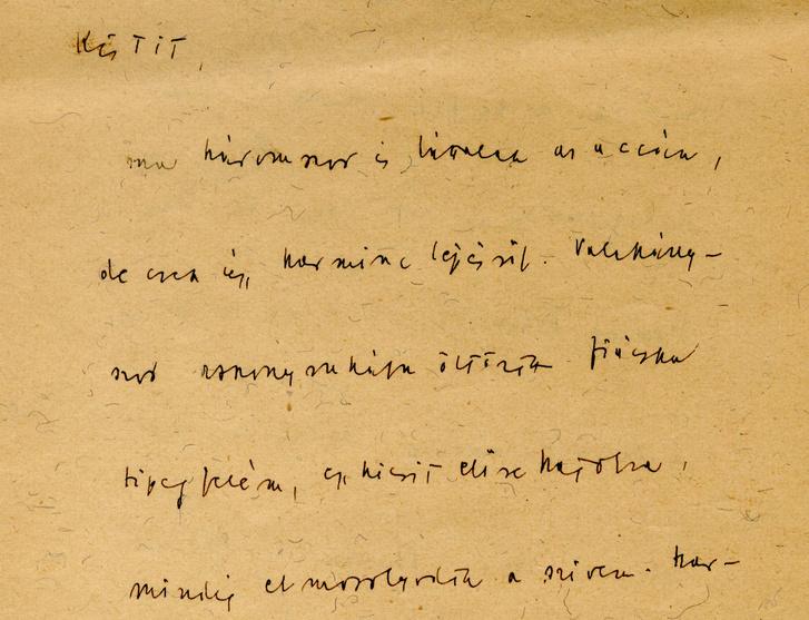 Részlet Móra Ferenc leveléből kutyanyelven Kalmár Ilonának