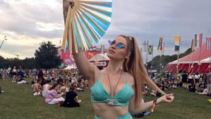 Yvonne Dederick lánya kipróbálta a félmeztelen jógát