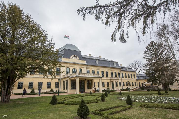 A gyulai Almásy-kastély 2019. március 16-án. Az egykori grófi rezidenciában 2016. március 19-én nyitották meg a Gyulai Almásy-kastély Látogatóközpontot.