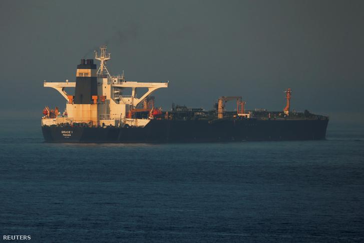 A Grace1 iráni tankerhajó 2019. augusztus 13-án.