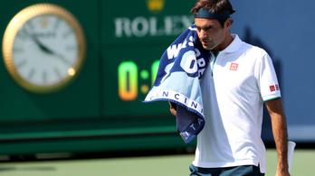 Tizenhat éve nem kapott ki ilyen gyorsan Roger Federer