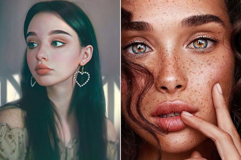 Ezek a gyönyörű lányok valójában nem is léteznek - Bámulatos, de megtévesztő portrék