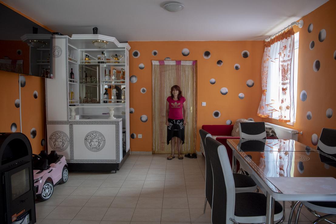 Beltéri kép az egyik frissen elkészült lakásbelsőről.