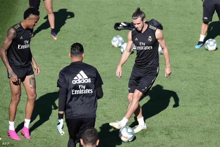 Eder Militao és Gareth Bale a Real Madrid augusztus 16-i edzésén
