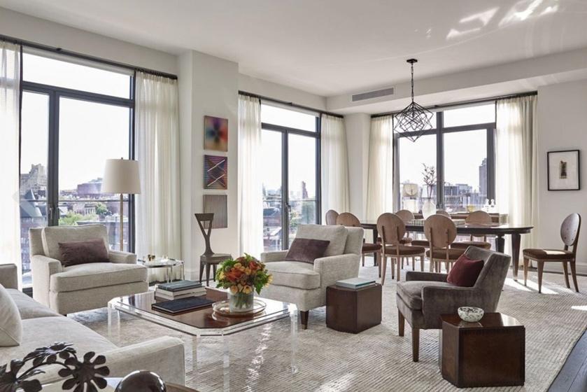A nappalija letisztult, modern és tágas, ellaknánk itt.
