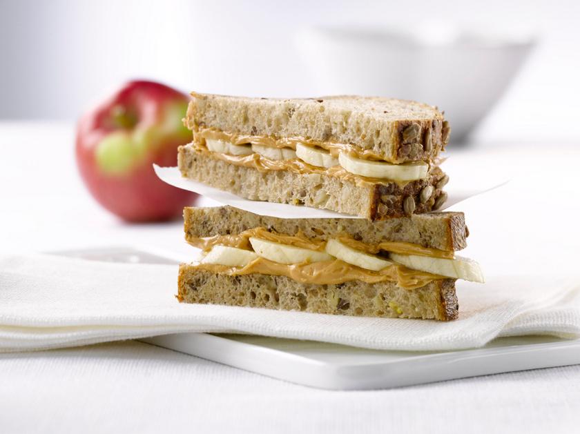 mogyoro vajas szendvics