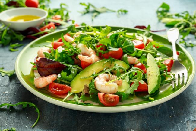 garnélás avokádós saláta recept
