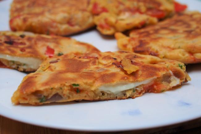sajttal töltött zöldséges pali recept