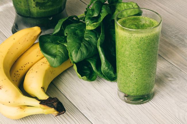 spenót banán turmix recept