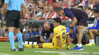 Suárez lesérült, megy a kispadra Messihez