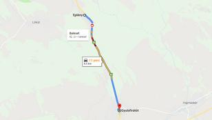 Halálos baleset miatt lezárták a 82-es főutat Gyulafirátótnál