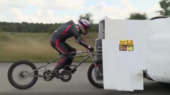 A sebességi rekorder 280 km/h-val száguldott egy kerékpáron