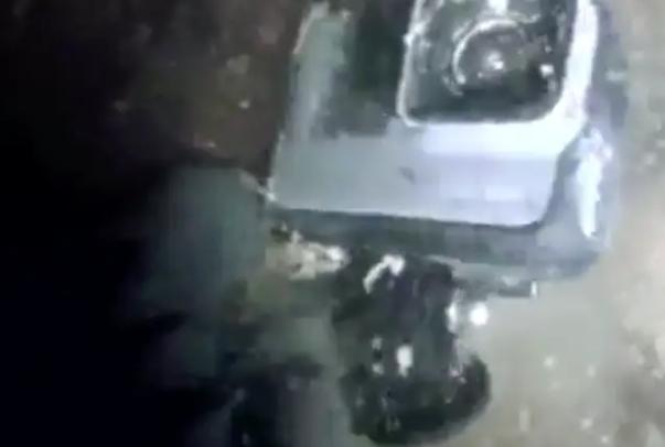 A vízesésnél megtalált kamera.