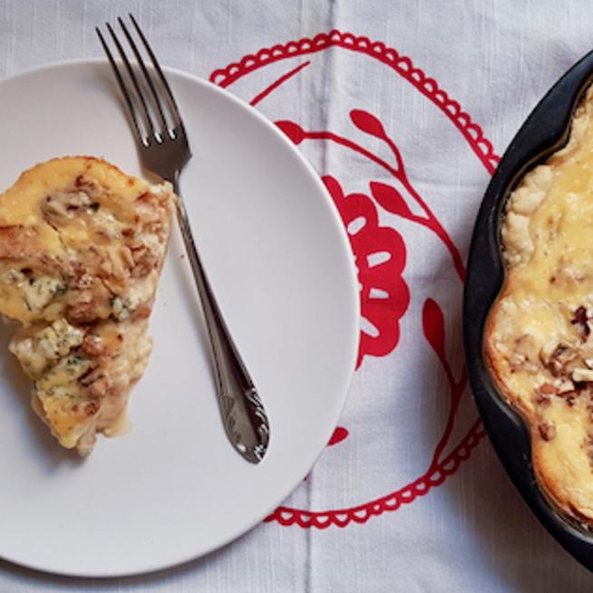 Quiche, a franciák sós pitéje - Ez épp kéksajtos, körtés és diós