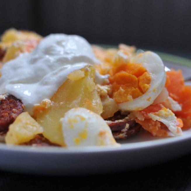 Rakott krumpli édesburgonyából: sokkal egészségesebb
