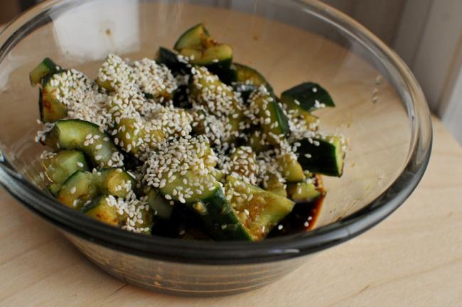 szezámos-uborkasaláta - 1