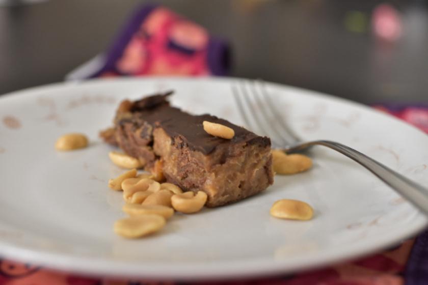 Sütés nélküli ropogós, mogyorós, csokis szelet - Nincs benne hozzáadott cukor