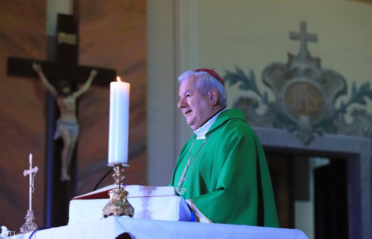 Kiss-Rigó László szeged-csanádi megyés püspök az eleki Sarlós Boldogasszony-templomban 2019. január 19-én