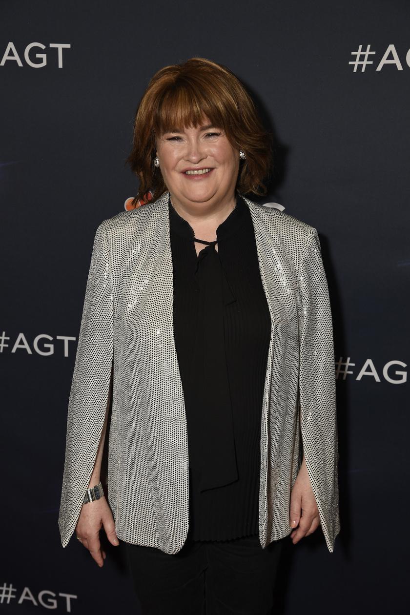 Susan Boyle csak úgy ragyogott hétfőn este a vörös szőnyegen.