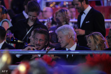 Sean Penn és Bill Clinton