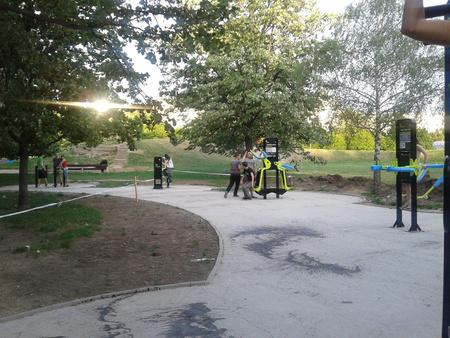 Olvasónk másik fotója az újbudai Bikás parkról