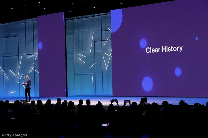 Mark Zuckerberg az Fan Francisco-i f8 fejlesztői konferencián 2018. május 1-én