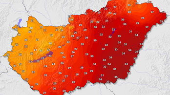 17 fokos hőmérséklet-különbség van az ország két széle között