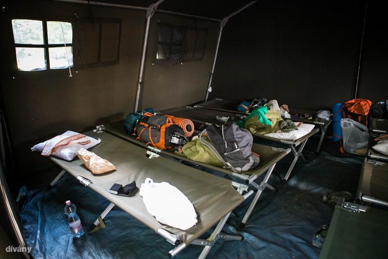 A táborozók sátra a hubertlaki pihenőnél