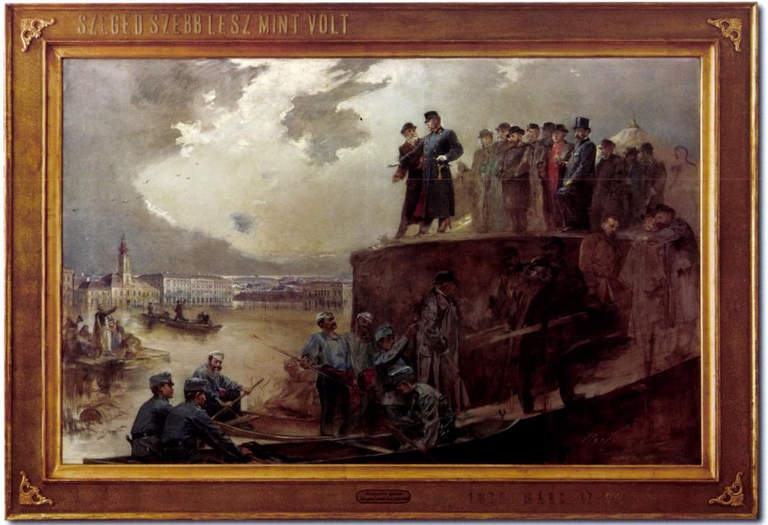 Roskovics Ignác: Szeged szebb lesz, mint volt (1895). Vázlat a városi pályázatra, ma ez is a múzeumban látható.