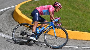 Edzésen bukott a Giro-győztes kerékpáros, nem indul a spanyol körversenyen