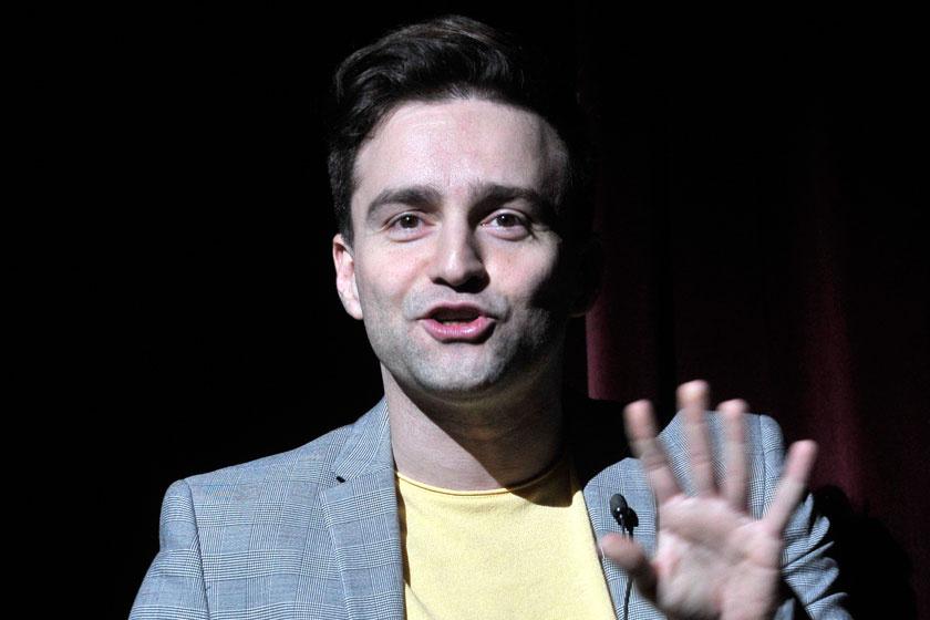 Szente Vajk rendező a Madách Színházban 2019 márciusában bemutatott Liliomfi című romantikus, zenés komédia próbáján.